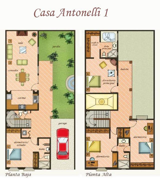 Barrio de antonelli apartamentos y casas en venta en for Planos de casas estilo colonial